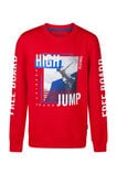 Sweat-shirt high jump garçon, Rouge
