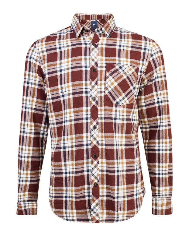 CHEMISE RELAXED FIT FLANEL CHECKED HOMME Aubergine