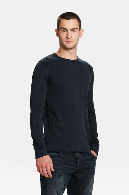 PULL RELAXED FIT STONE WASH HOMME Bleu marine