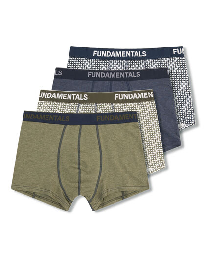 HEREN BOXER, 4-PACK Multikleur