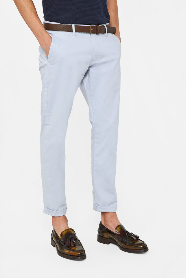 Heren slim fit chino Lichtblauw