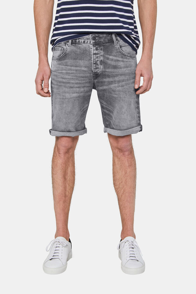 Short denim regular fit homme Gris