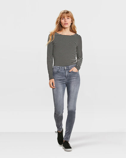 JEANS HIGH RISE SKINNY HIGH STRETCH FEMME Gris