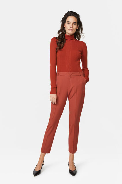 Dames slim tapered pantalon Bruin
