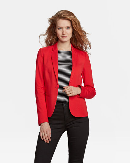 DAMES SLIM FIT JERSEY BLAZER Felrood