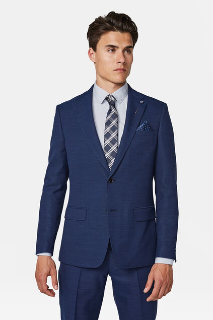 Heren regular fit blazer sorrento Marineblauw