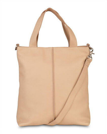 DAMES REAL LEATHER SHOPPER Beige