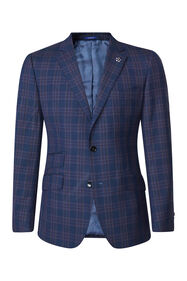 Heren slim fit blazer Trapani_Heren slim fit blazer Trapani, Marineblauw