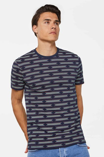 Heren T-shirt met all-over print All-over print