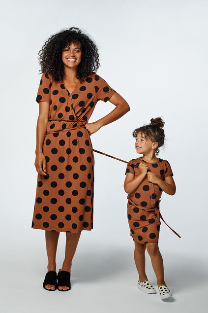 Mini me: Robe à motif poi