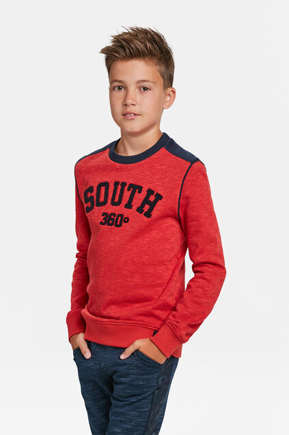 JONGENS SOUTH PRINT SWEATER Felrood