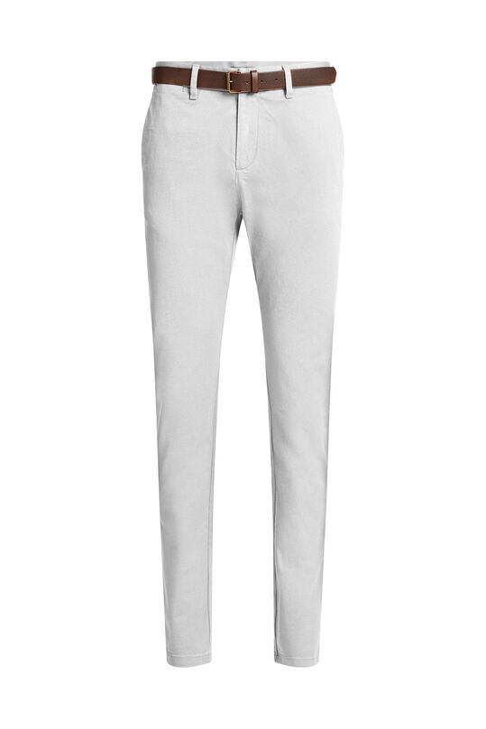 Heren uni slim fit chino Grijsgroen