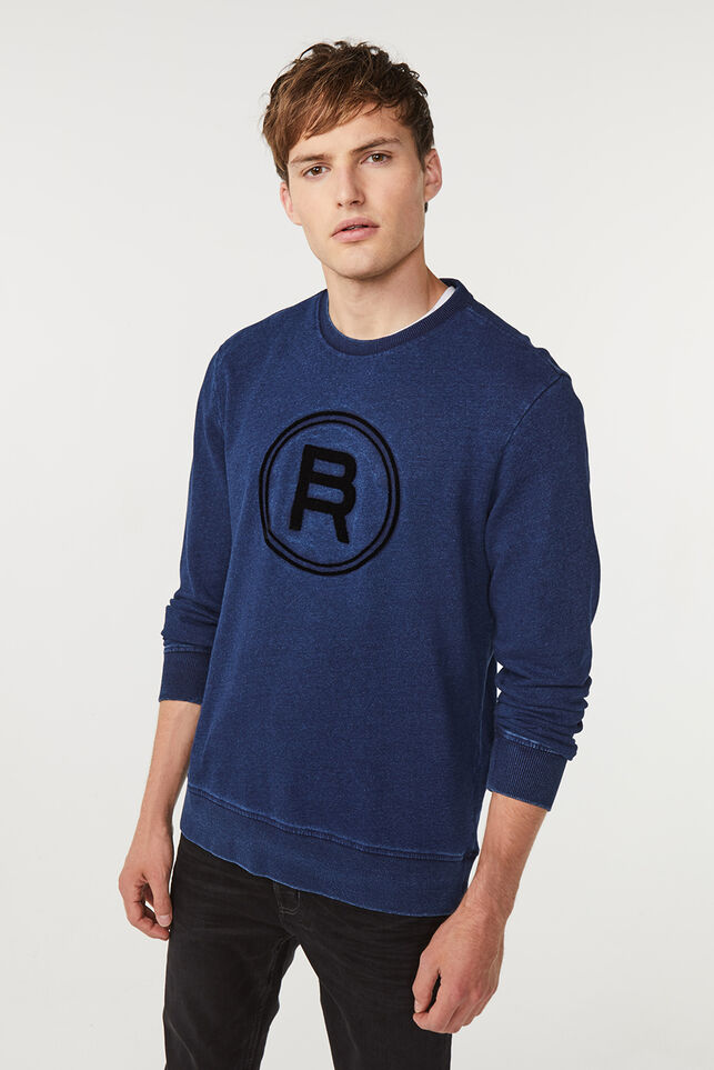 Heren Blue Ridge sweater Indigo