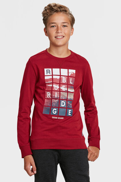 JONGENS BLUE RIDGE T-SHIRT Bordeauxrood