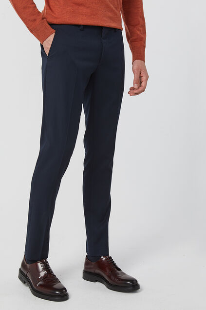 Heren skinny fit pantalon, Dali Marineblauw