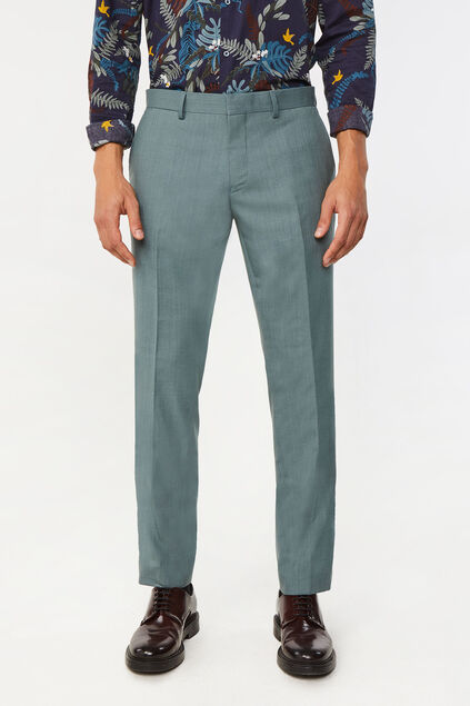Heren regular fit Dali pantalon met stretch Grijsgroen