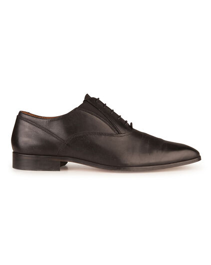 HEREN REAL LEATHER VETERSCHOENEN Zwart