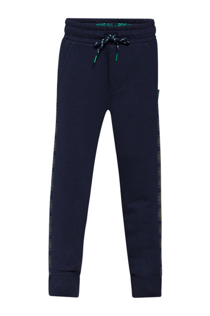 Jongens check stripe sweatpants Marineblauw