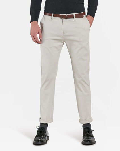 SLIM FIT PANTALON HOMME Beige