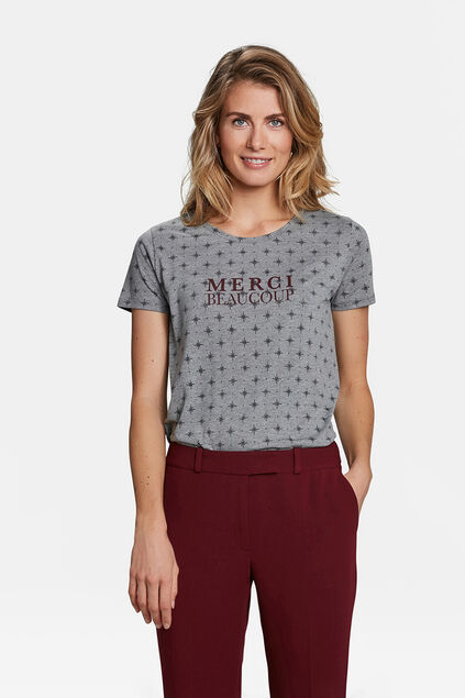 DAMES MERCI BEAUCOUP T-SHIRT Grijs