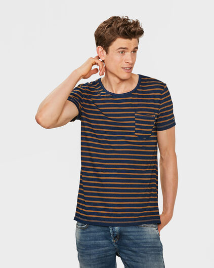 HEREN JERSEY STRIPE T-SHIRT Blauw