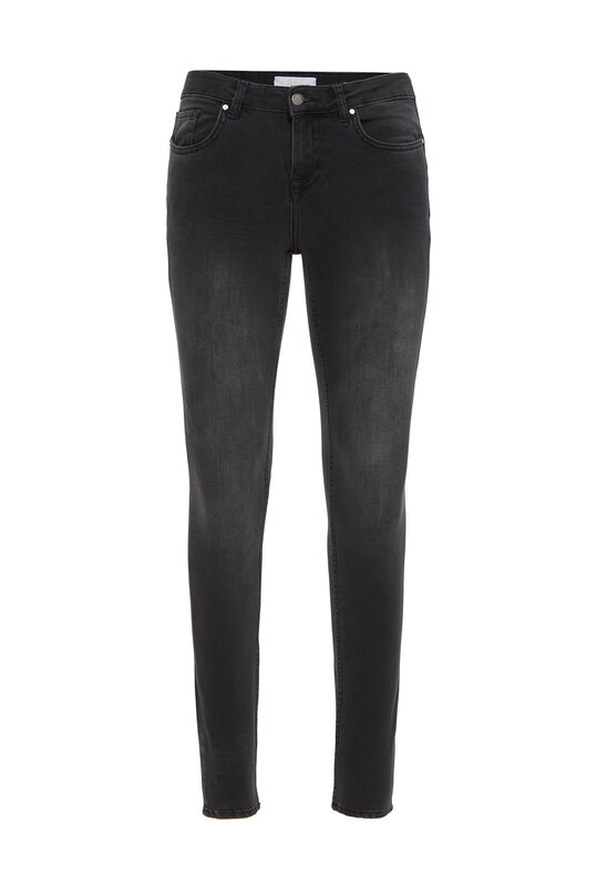 Dames mid rise super skinny shaping jeans Donkergrijs