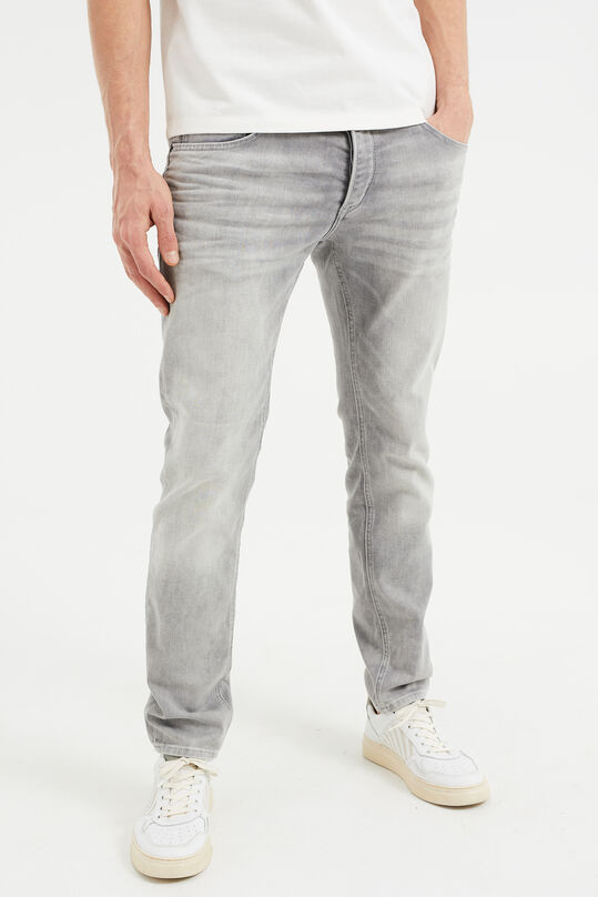 Heren slim fit jeans Grijs
