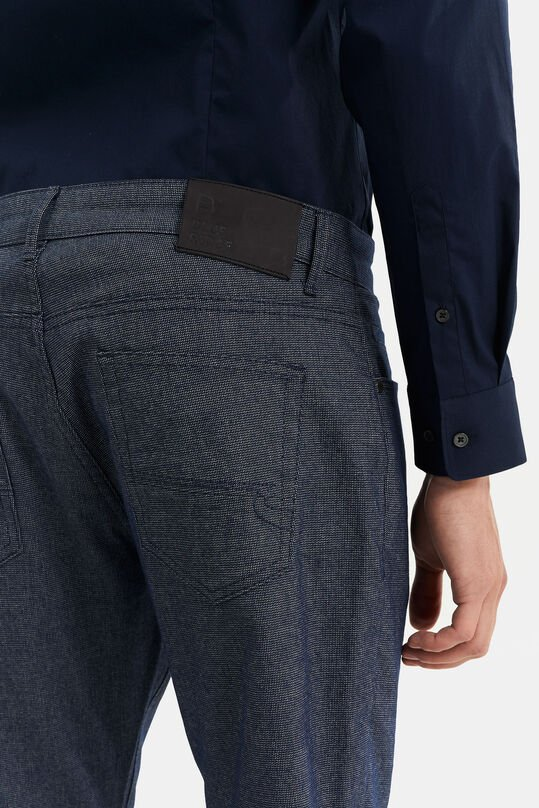 Heren slim fit 5-Pocket broek Donkerblauw