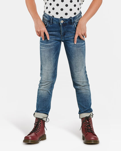 JEANS SKINNY FIT POWER STRETCH FILLE Bleu