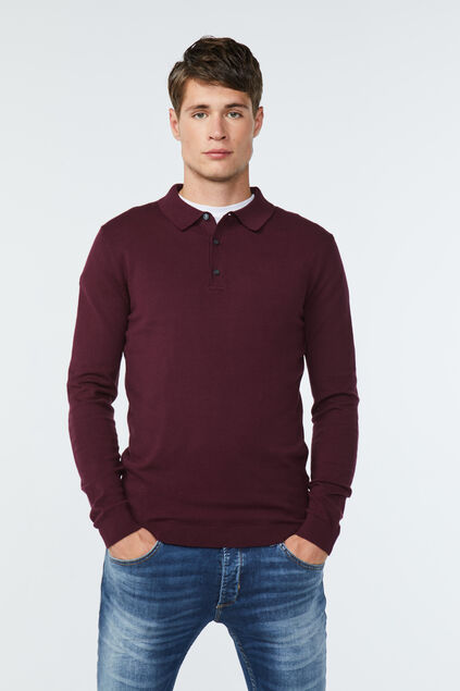 Pull polo homme Bordeaux