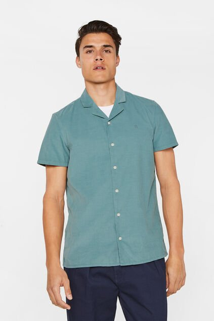 Chemise corduroy boxy fit homme Vert gris