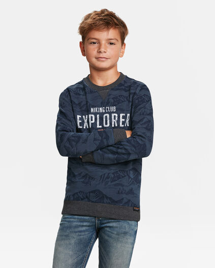 SWEAT-SHIRT EXPLORER PRINT GARÇON Bleu marine