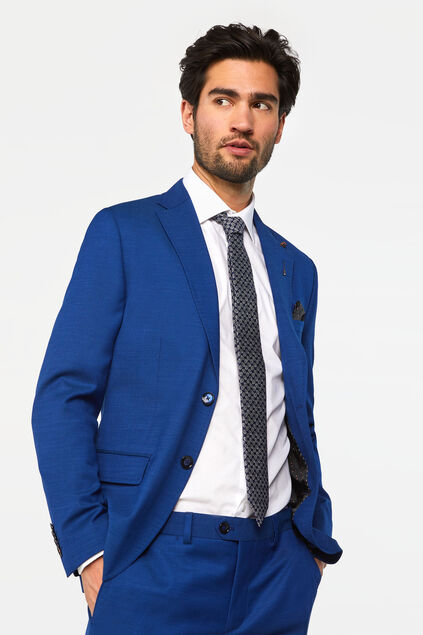 Heren slim fit blazer Johnson Blauw