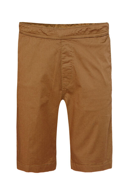 Heren regular fit chinoshort met stretch Caramel