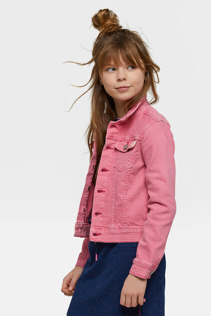 Veste denim fille Rose