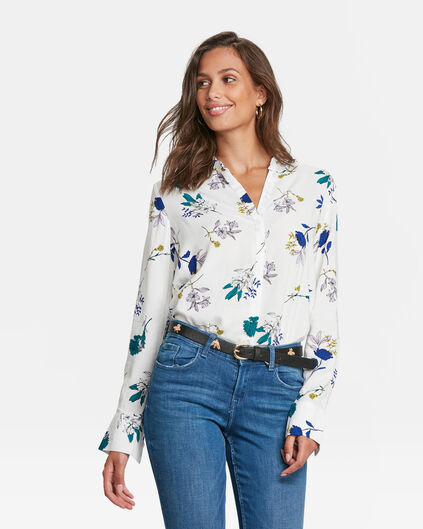 DAMES BLOEMENPRINT BLOUSE Wit