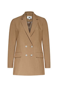 Dames regular fit double breasted blazer_Dames regular fit double breasted blazer, Lichtbruin