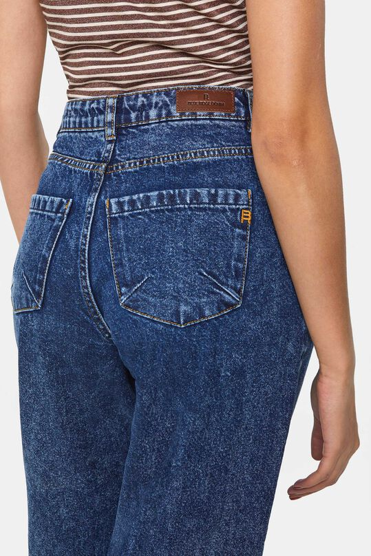 Dames high waist tapered jeans Donkerblauw