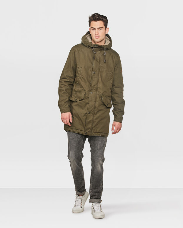 HEREN COTTON PARKA Groen