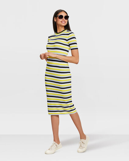 ROBE STRIPED FEMME Multicolore