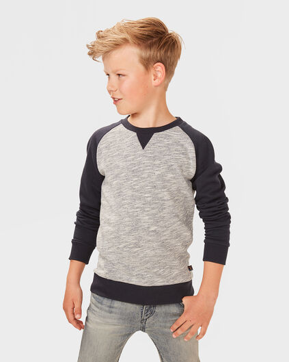SWEAT-SHIRT RAGLAN SLEEVE GARÇON Bleu