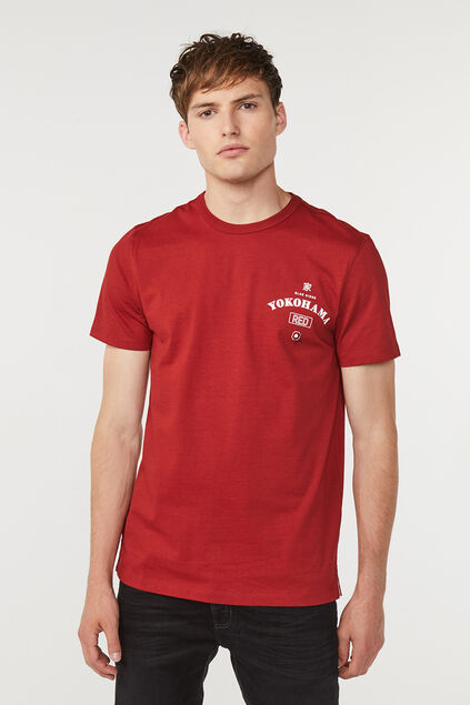 Heren Blue Ridge T-shirt Donkerrood
