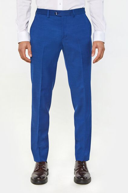Pantalon regular fit Johnson homme Bleu