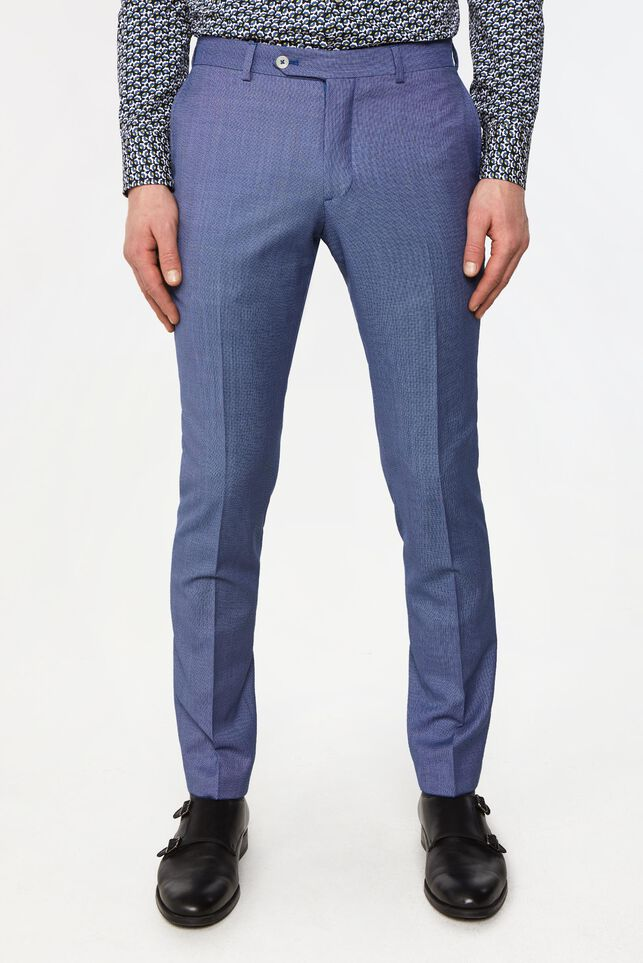 Pantalon tailored fit à motif Vinci homme Bleu