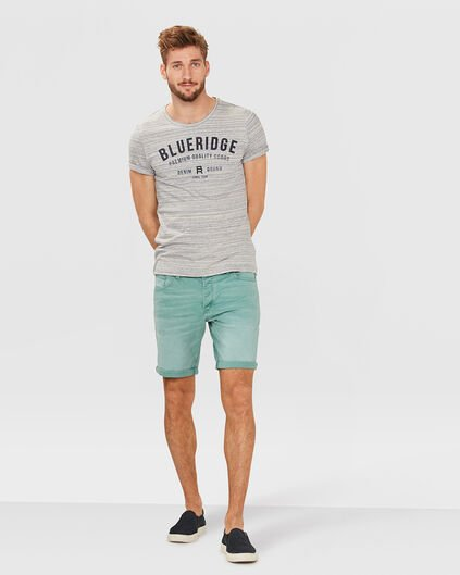 HEREN REGULAR FIT STRETCH SHORT Mintgroen