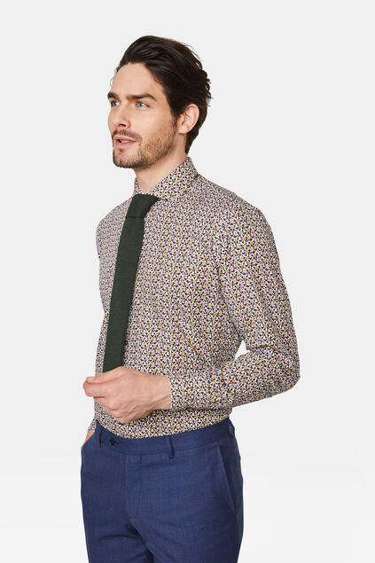Heren slim fit overhemd All-over print