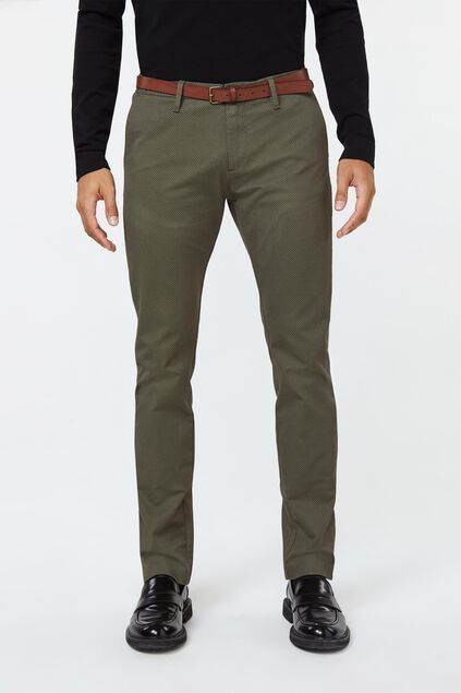 Heren skinny fit chino Groen