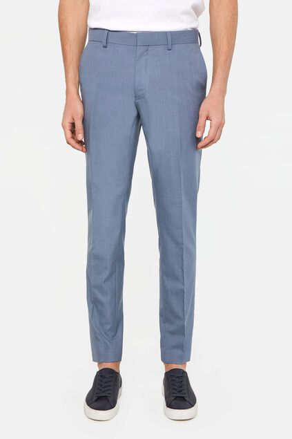 Heren skinny fit pantalon met stretch, Dali IJsblauw