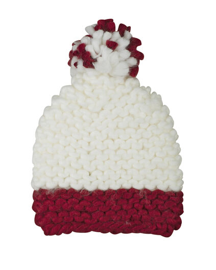 BONNET POMPON FILLE Bordeaux