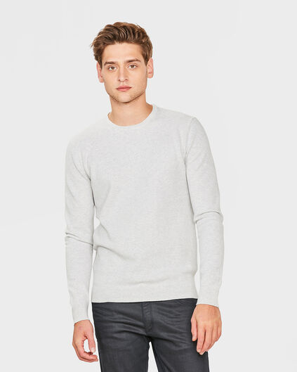 PULL STRUCTURE R-NECK HOMME Blanc